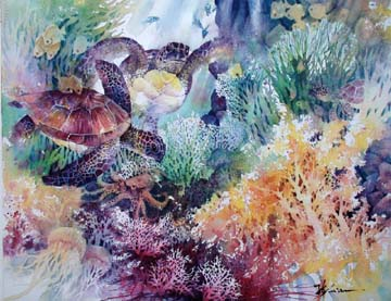 http://www.lianspainting.com/images/for%2010web/wc-fish/wc-turtle.jpg